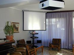 TV room with maxy screen
