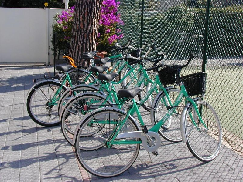 bicycles available for guests
