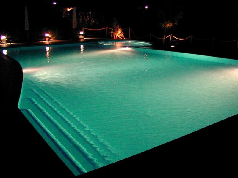 The pool in Tirrenia at night