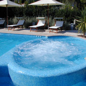 For our guests a swimming pool with Jacuzzi
